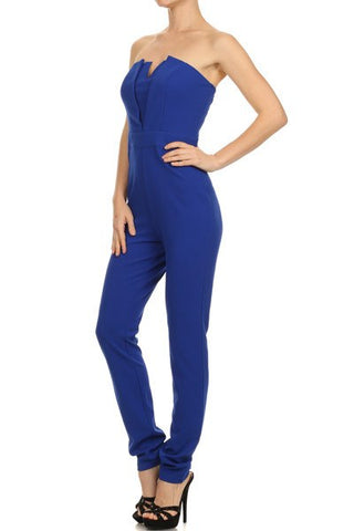 Brands,Sale,Apparel - Posh Girl Strapless V-Front Jumpsuit