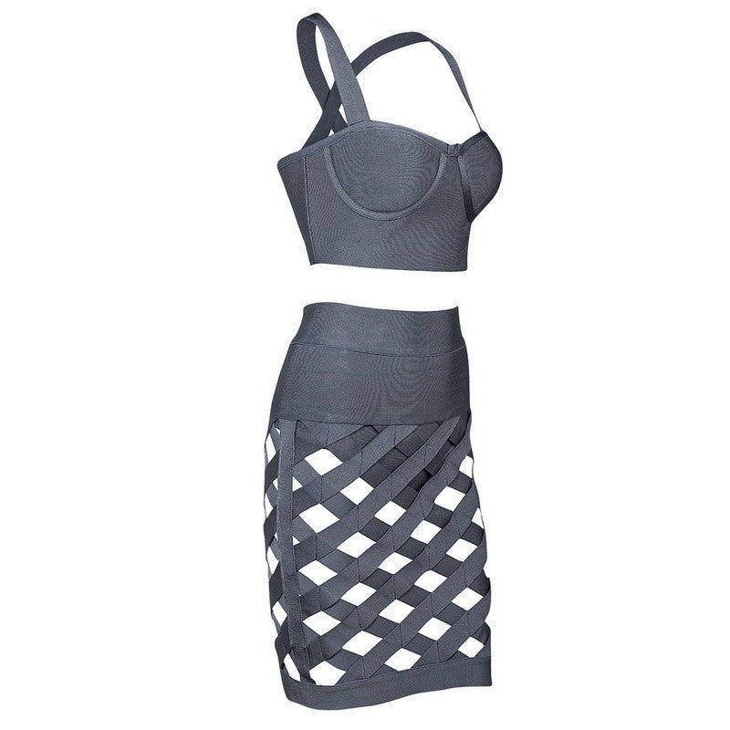 Brands,Sale,Collections,Apparel - Posh Girl Her Sexy Cut Out Bandage Skirt Set