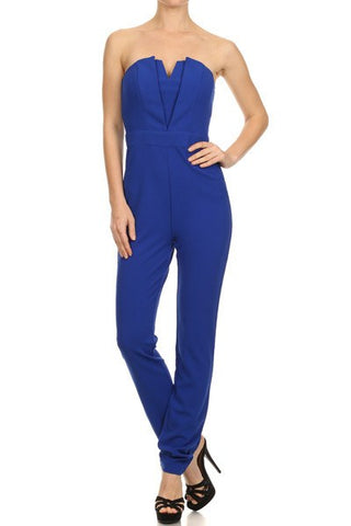 Brands,Sale,Collections,Apparel - Posh Girl Strapless V-Front Jumpsuit