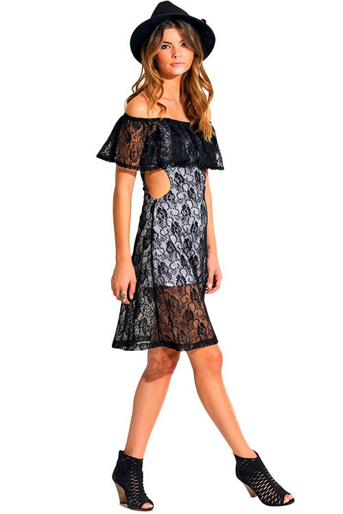 The Bewitching Babe Lace Mini Dress-POSH GIRL-Posh Girl