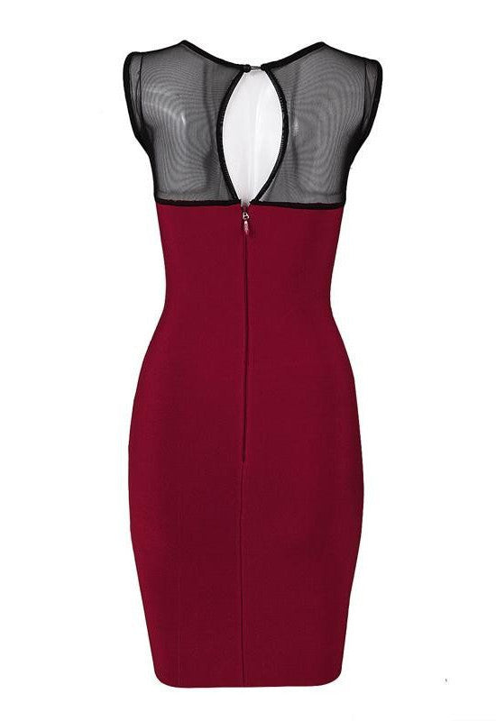 Burgundy Lace Bandage Cocktail Dress for $1.78 at Posh Girl