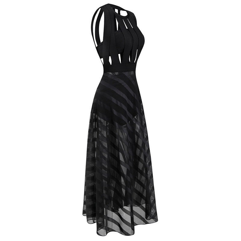 Brands,Sale,Dresses,Collections - Posh Girl  Too Hot For You Black Maxi Dress