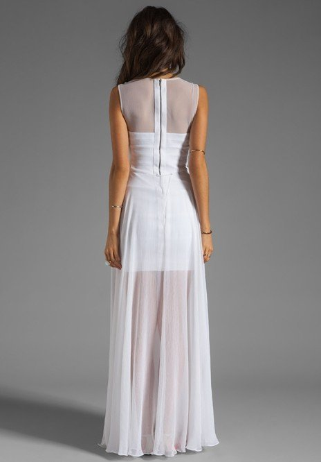 Brands,Sale,Dresses,Collections - Posh Girl White Chiffon Bandage Maxi Dress