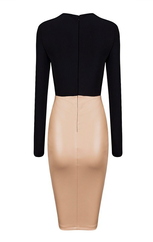 Brands,Sale,Dresses,New,Collections,Apparel - Posh Girl Felicia Bodycon Vegan Leather Dress