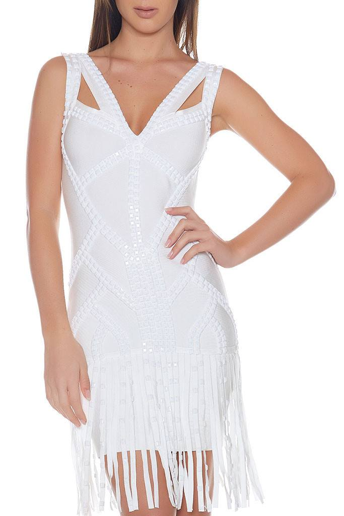 Kathleen Beaded Bandage Dress-POSH GIRL-Posh Girl