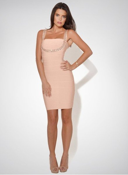 Brands,Sale,Dresses,New,Collections - Posh Girl  Beaded Bandage Cocktail Mini Dress Dress