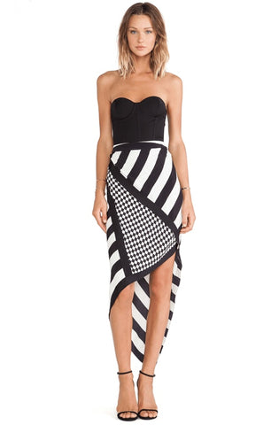 Brands,Sale,Dresses,New,Collections - Posh Girl Black And White Bandage Maxi Dress