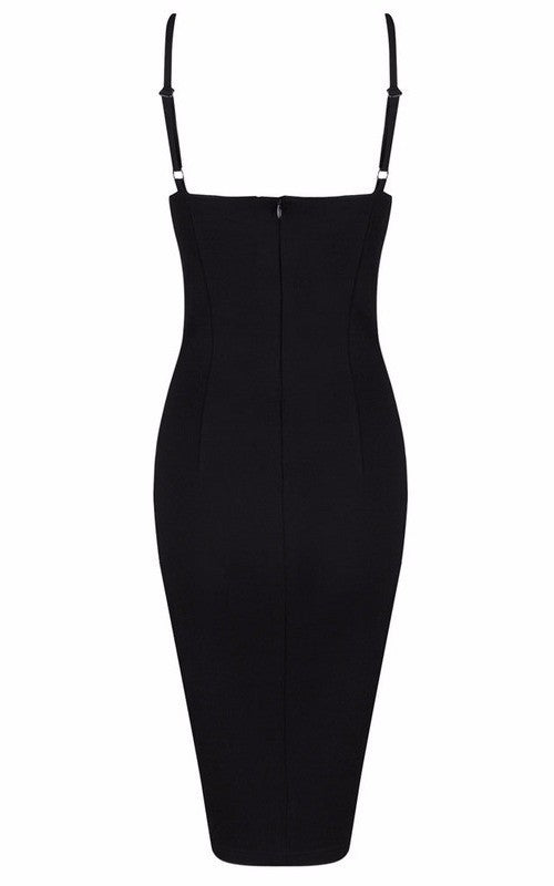 Posh Girl Black Body-Con Cut-Out V-neck Dress for $1.48 at Posh Girl