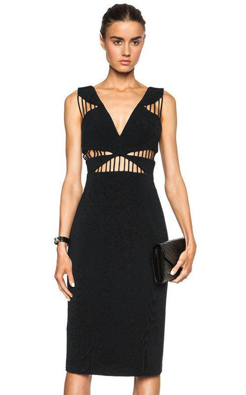 Brands,Sale,Dresses,New,Collections - Posh Girl Blake Cut-Out Bandage Dress