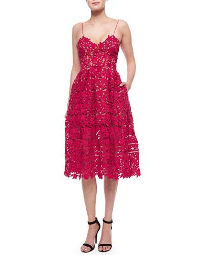 Fianna Lace Midi Cocktail Dress-POSH GIRL-Posh Girl