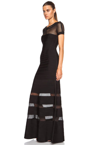 Brands,Sale,Dresses,New,Collections - Posh Girl Mesh Insert Bandage Gown