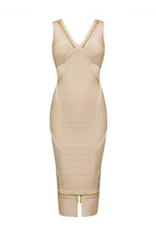 Brands,Sale,Dresses,New,Collections - Posh Girl Nude Chelsy Bandage Dress