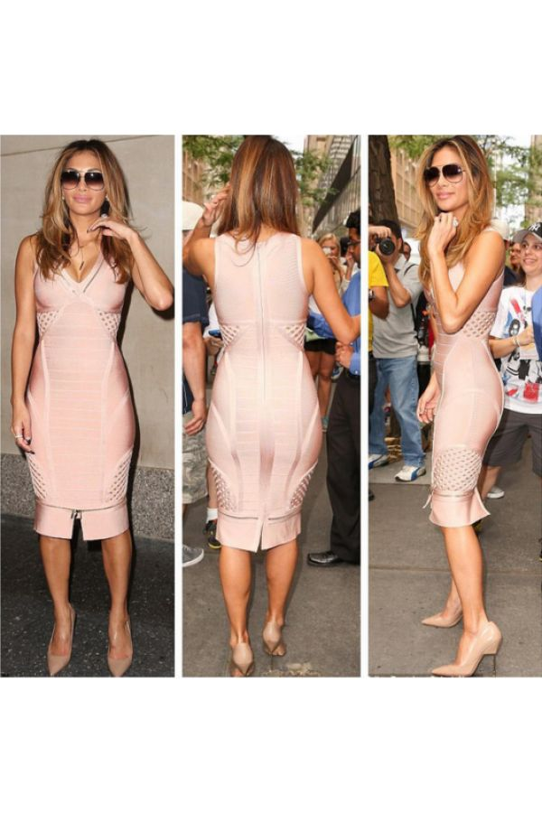 Nude Chelsy Zipper Bandage Dress for $1.78 at Posh Girl