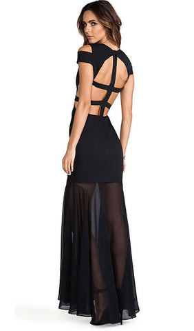 Brands,Sale,Dresses,New,Collections - Posh Girl Sasha Cut-Out Back Bandage Gown