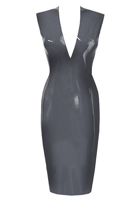 Silky Babe V-Front Vegan Leather Dress for $1.68 at Posh Girl