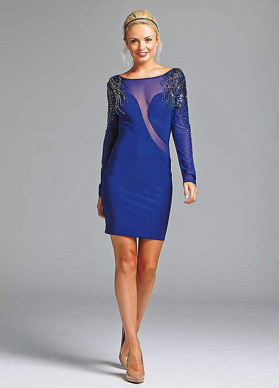 Posh Girl Aimee Royal Blue Bandage Dress-POSH GIRL-Posh Girl