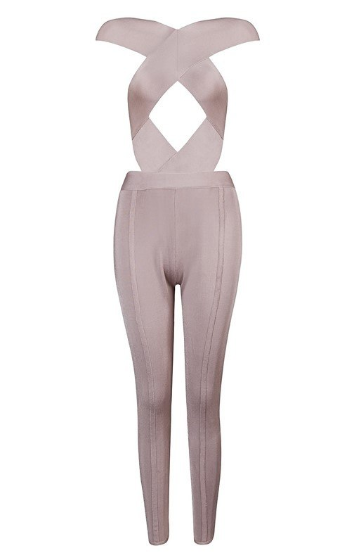 Brands,Sale,New,Collections,Apparel - Posh Girl Vanity Cut-Out Bandage Jumpsuit