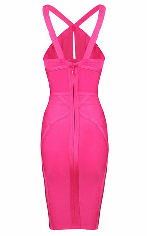 Brands,Sale,New,Collections,Dresses - Posh Girl Posh Pink Halter Bandage Dress