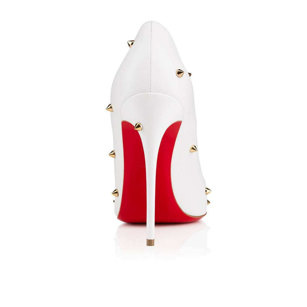Leather Spiked Red Bottom Stiletto Pumps for $1.58 at Posh Girl