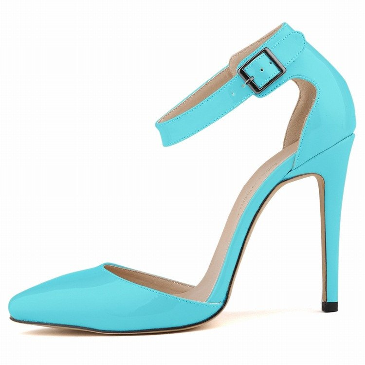 Brands,Shoes,Collections - Posh Girl Vegan Leather Ankle Wrap Pumps