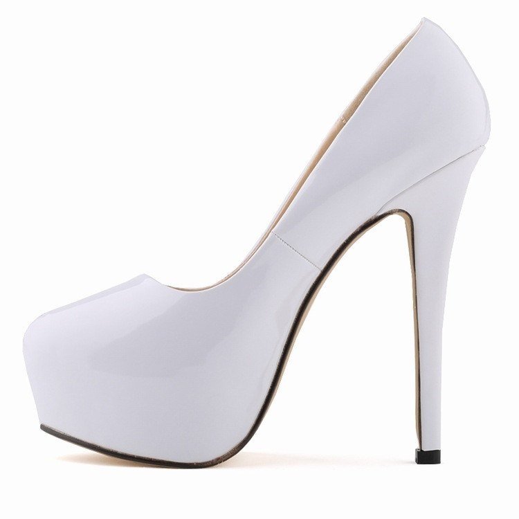 Posh Girl Vegan Leather Stiletto Platform Pimps for $0.88 at Posh Girl