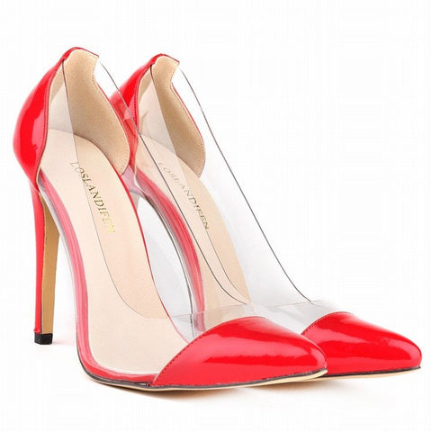 Brands,Shoes,Collections,Pumps - Posh Girl Boss Chick Vegan Leather PVC Pumps