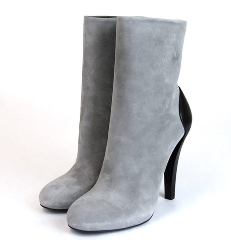 GUCCI Suede/Leather Ankle Boot, Grey for $7.68 at Posh Girl