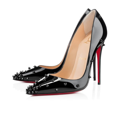 Brands,Shoes,New,Dresses - Posh Girl Black Studded Stiletto Pumps