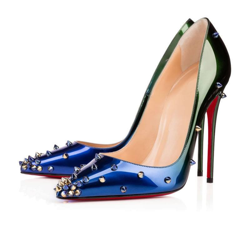 Blue Ombre Studded Stiletto Pumps for $1.58 at Posh Girl