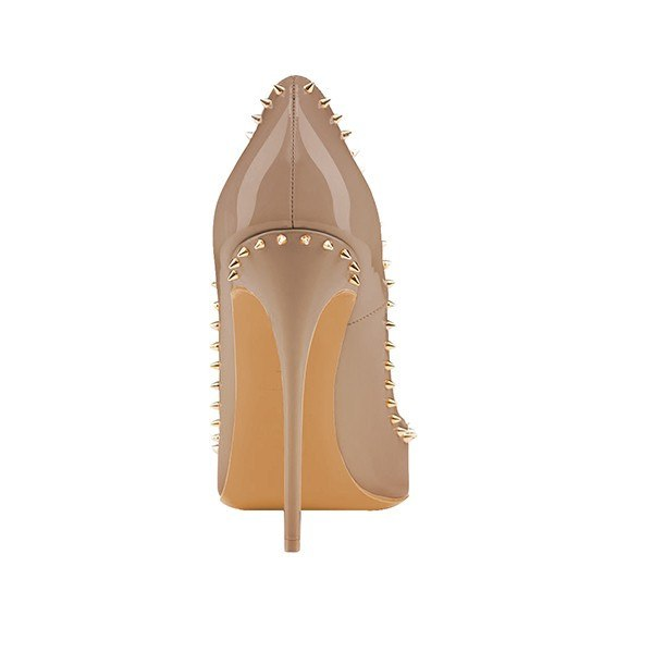 Brands,Shoes,New - Posh Girl Coffee Studded Stiletto Pumps