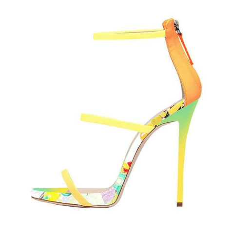 Brands,Shoes,New - Posh Girl Fantasia Floral Stiletto Sandals