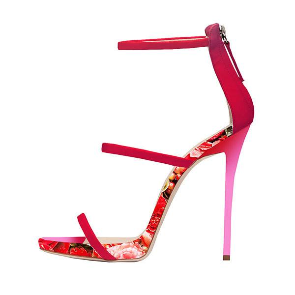 Posh Girl Fantasia Floral Stiletto Sandals for $1.28 at Posh Girl