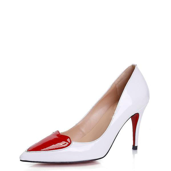 I Heart You Patent Leather Pumps
