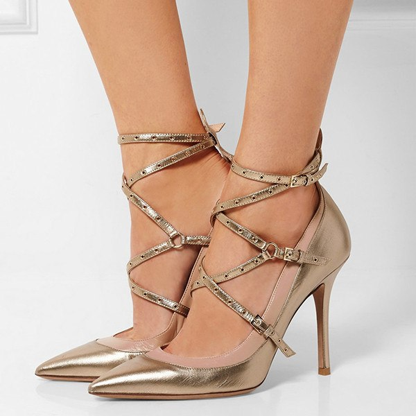 Brands,Shoes,New - Posh Girl Jen Ankle Wrap Pumps