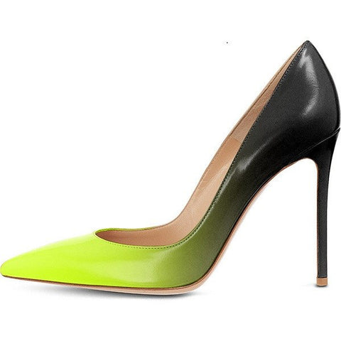 Brands,Shoes,New - Posh Girl Lime Ombre Stiletto Leather Pumps