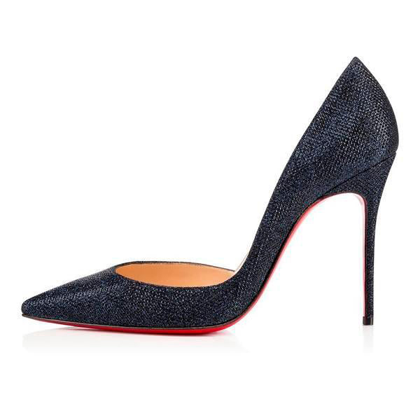 Posh Girl Midnight Stiletto Red Bottom Pumps