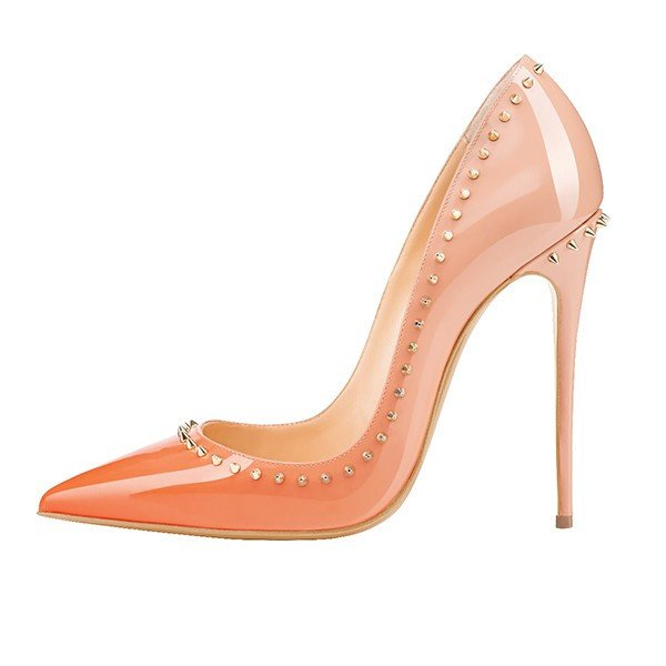 Brands,Shoes,New - Posh Girl Nude Ombre Studded Stiletto Pumps