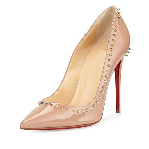 Brands,Shoes,New - Posh Girl Nude Studded Stiletto Pumps