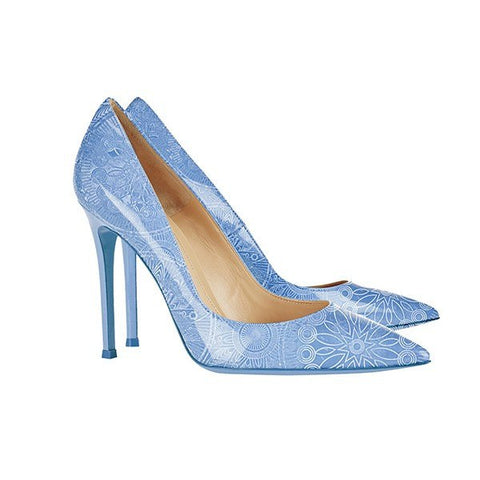 Brands,Shoes,New - Posh Girl Paisley Print Patent Leather Pumps