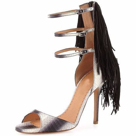 Brands,Shoes,New - Posh Girl Snake Ankle-Wrap Stilettos Sandals