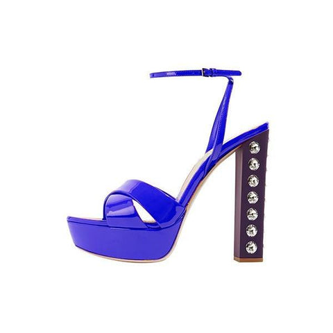 Brands,Shoes,New - Posh Girl Studded Chunky Heel Platform Sandals