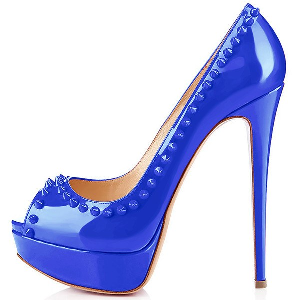 Brands,Shoes,New - Posh Girl Studded Stiletto Peep-Toe Pumps
