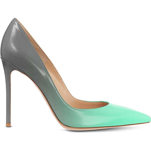 Posh Girl Turquoise Ombre Stiletto Leather Pumps-POSH GIRL-Posh Girl