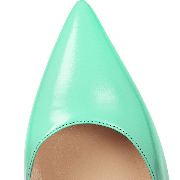 Brands,Shoes,New - Posh Girl Turquoise Ombre Stiletto Leather Pumps