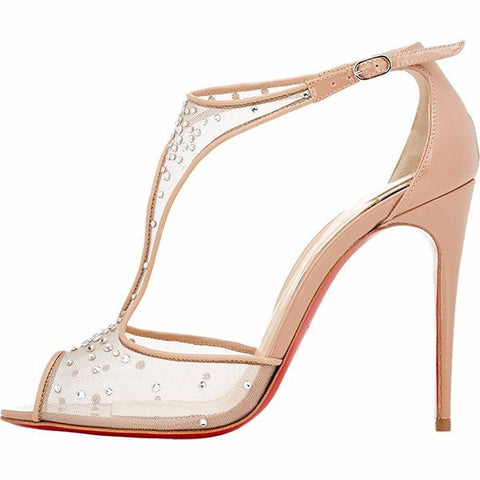 Brands,Shoes,New - Posh Girl Victoria Rhinestone Lace Stiletto Sandals