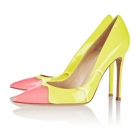 Brands,Shoes,New - Posh Girl Yellow Sherbet Stiletto Pumps