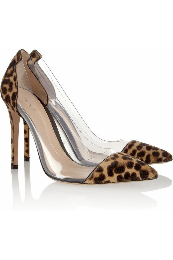 Boss Chick Pony Fur  Leopard PVC Pumps-POSH GIRL-Posh Girl