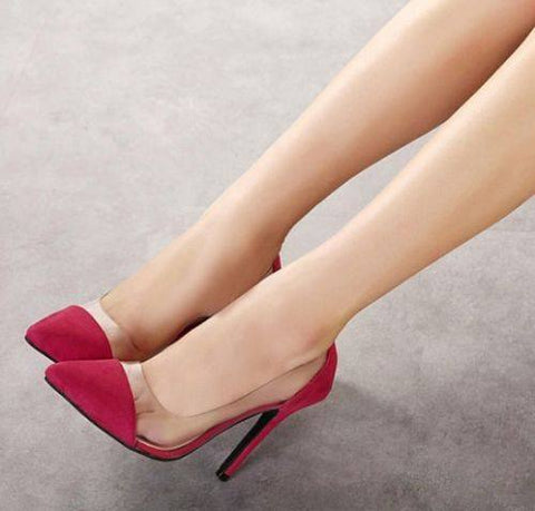 Brands,Shoes - Posh Girl Boss Chick Suede PVC Pumps