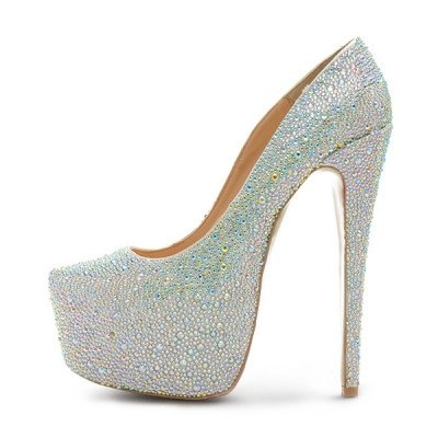 Brands,Shoes - Posh Girl Caroline Rhinestone Studded Platform  Pumps