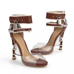 Posh Girl Rocker Babe PVC Leather Sandals for $3.58 at Posh Girl